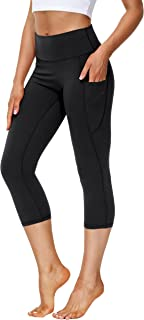 SPECIALMAGIC Capri Leggings for Women High Waist Tummy Control Yoga Pants Sports Running Cropped Casual Bottoms with Pockets