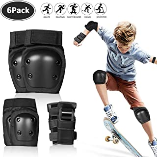 SPORUS Protective Gear,  Knee Pads for Kids with Elbow Pads and Wrist Guards for Boys and Girls Skate Boarding Cycling Scooter [Storage Bag Included]