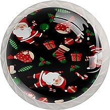 Lade Handgrepen Kabinet Knoppen Ronde Pack van 4 voor Kast, Lade, Borst, Dressoir etc, Kerst Element Kerstman