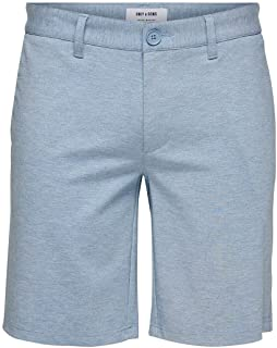 Only & Sons heren Shorts Onsmark Reg Mel Shorts Gd 5832 Noos