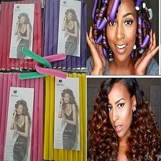 30pieces/set Hair Curling Flexi rods Hair Roller Curler Random Color Soft Foam Bendy DIY Styling Hair Sticks Tool Twist-flex Rods