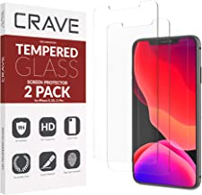 Crave Glass Screen Protector for Apple iPhone 11 Pro/XS/X [2-Pack] HD Tempered Glass
