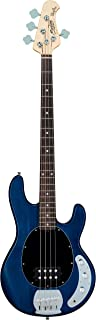 $299 » Sterling by Music Man StingRay Ray4 Bass Guitar in Trans Blue Satin