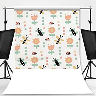 Butterflies and Ladybugs Photography Backdrop,153345 for Photo Studio,Pictorial Cloth:6x10ft