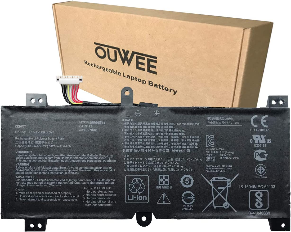 OUWEE C41N1731 Laptop Battery Compatible ROG Her Free shipping anywhere in the nation Strix with Award-winning store ASUS