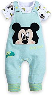 Disney Mickey Mouse Bodysuit and Dungaree Set for Baby Size 6-9 MO Multi