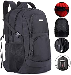 Extra Large Travel Laptop Backpack TSA Durable College School 19 &18.4 Inch Computer Bookbag with USB Charging Port &Raincover