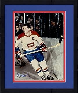 Framed Jean Beliveau Montreal Canadiens Autographed 16