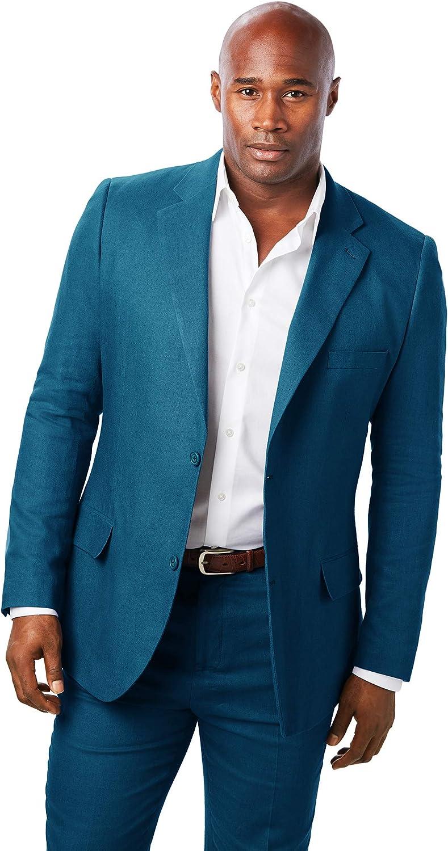 KingSize KS Island Men's Big & Tall Linen Blend Two-Button Suit Jacket