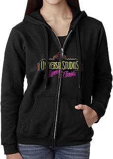 Blingerstore Casual Womens Hollywood Universal Studios Full-Zip Sweatshirt Hoodie Jacket