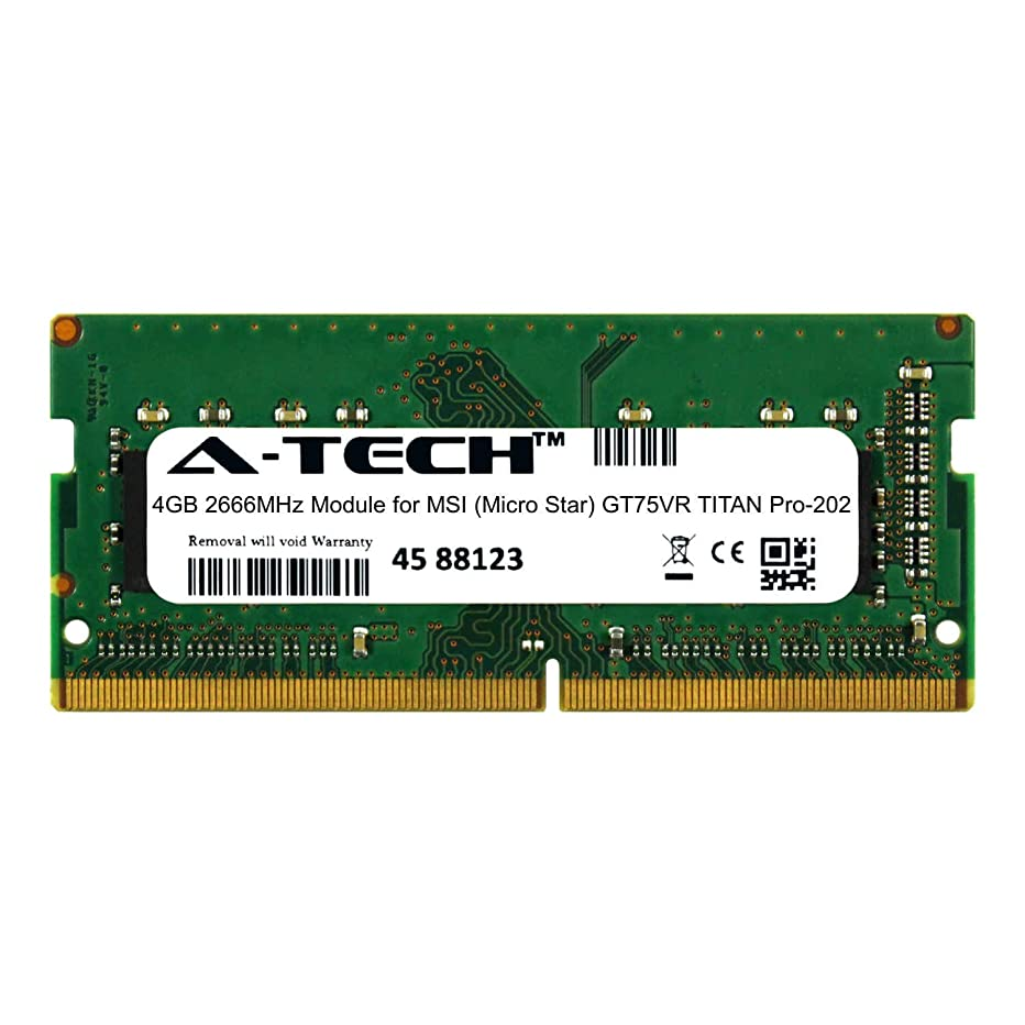 A-Tech 4GB Module for MSI (Micro Star) GT75VR Titan Pro-202 Laptop & Notebook Compatible DDR4 2666Mhz Memory Ram (ATMS367950A25977X1)