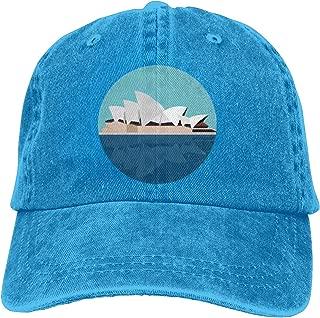 Sydney-Opera-House Retro Adjustable Cowboy Denim Hat Unisex Hip Hop Baseball Caps