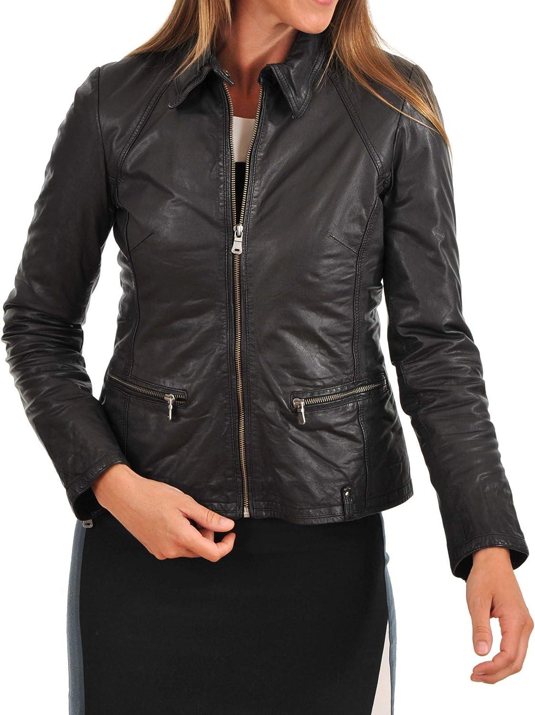 KAINAT Women's Max 84% OFF Award-winning store Motorcycle Bomber Biker H Jacket Leather Lambskin