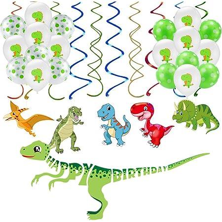 24PCS Dinosaur Party Decorazioni per Ragazzi Dino Tema Festa di Compleanno Forniture Hanging Spiral Ghirlande a Spirale Decorazione Soffitto WERNNSAI Dinosauro Compleanno Appendere Decorazioni