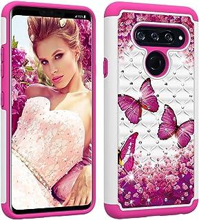 LG V40 ThinQ Case,LG V40 Case Ithuriel Cute Diamond Bling Luxury Glitter Sparkle Rhinestone Crystal Hybrid Dual Layer Cove...