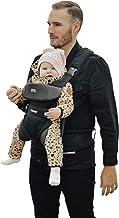 Lascal m1 Carrier, ergonomische Babytrage für leichten Transport, Baby Carrier für Neugeborene und Kinder 3,5 kg - 15 kg, Baby Tragegurt mit Säugling M-Seat, schwarz/grau