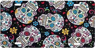 dqvwgk Sugar Skull Day of the dead Custom Aluminium License Plate Frames für Auto License Plate Cover mit 4Löchern Auto Tag 15,2x 30,5cm