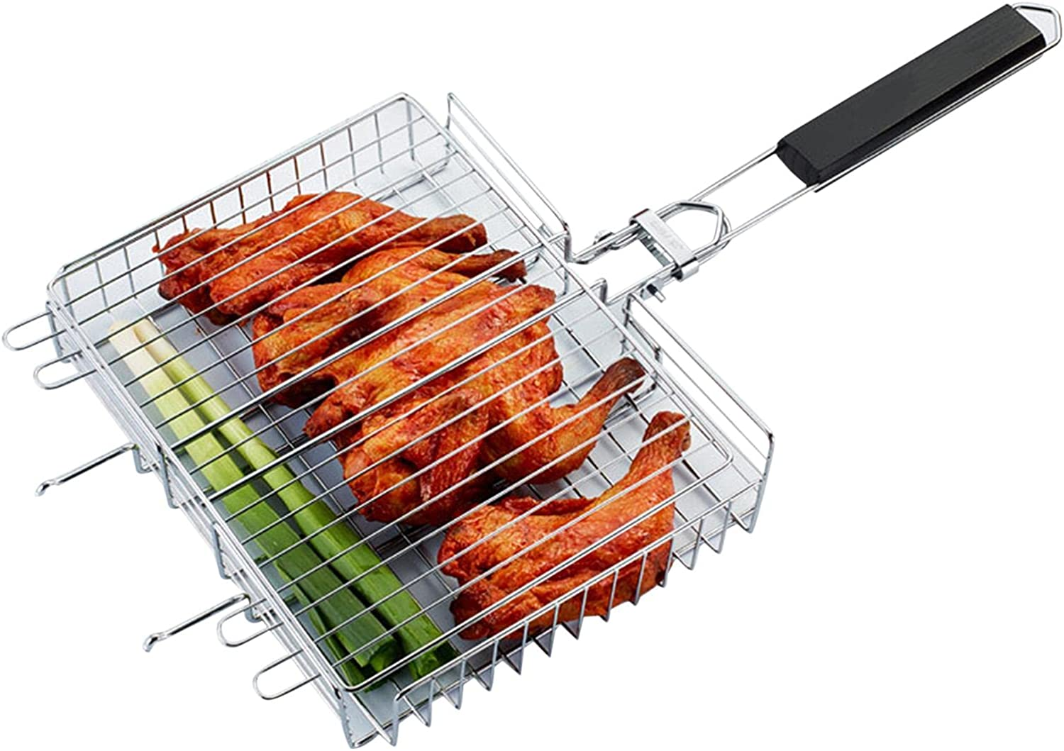 FDF Grilling Basket Stainless Steel Wooden Grill Ha with Seasonal Wrap Inexpensive Introduction