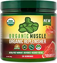 Organic Replenisher Electrolyte Powder- Organic Post Workout & Intra-Workout Vegan Recovery Drink. Max Hydration w/Coconut...
