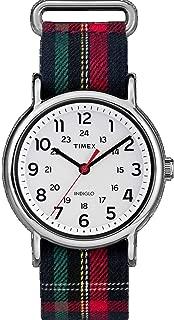 Timex TW2R10900 Weekender Unisex Watch Plaid 38mm Stainless Steel