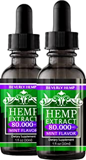 2 Pack Hemp Oil 80.000 MG. Anxiety Reducer. Pain Relief. Natural Sleep Aid. Weight Management .with Natural...