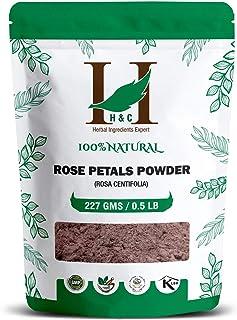 100% Pure Rose Petals Powder (Rosa Centifolia) for Facial Mask Formulation - 1/2 LB/ 227 gms / 8 Oz