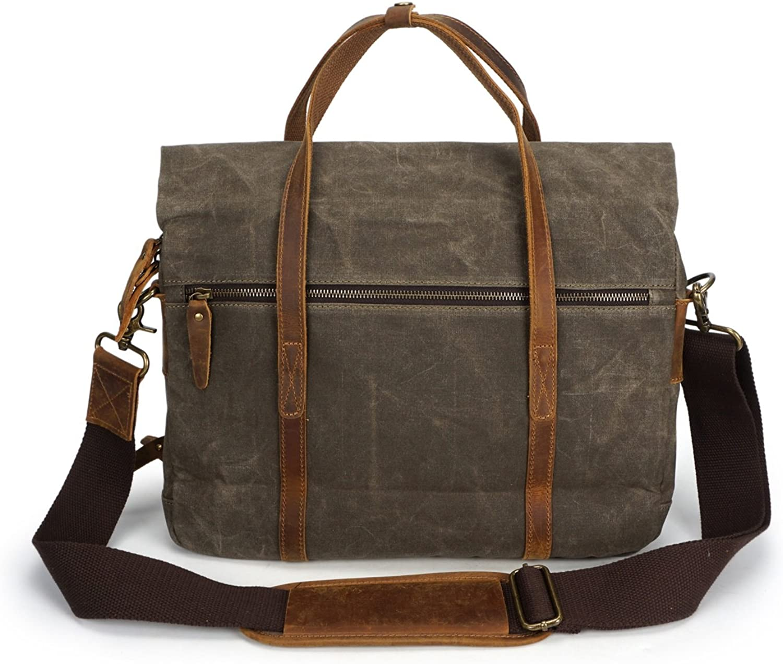 HHF HHF HHF Umhängetaschen & Handtaschen Vintage Schulter Messenger Bag Herren Crossbody Öl Wachs Leinwand mit Crazy Horse Papiertüte B07L271S7S  Allgemeines Produkt 335911