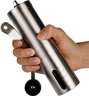 Manual Coffee Grinder Adjustable Ceramic Conical Burr Stainless Steel Coffee Mill
