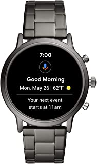 Gen 5 Carlyle Stainless Steel Touchscreen Smartwatch with Speaker, Heart Rate, GPS, NFC, and Smartphone Notifications