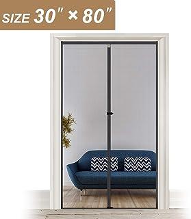 Fiberglass Magnetic Screen Door Fits Door Size 30 x 80, Heavy Duty for Entry Front Door Size 30