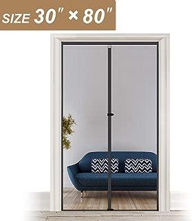 Fiberglass Magnetic Screen Door 30 x 80, Heavy Duty for Entry Front Door Size 30