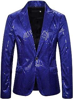 BEIXUNDIANZI Men's Sequin Blazer Casual ONE Button Suit Slim Fit Prom Clubwear Blazer Coat Performance Costume for Wedding...