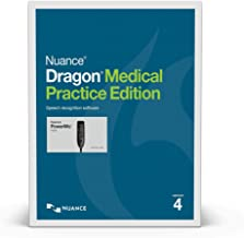 Nuance Dragon Medical Practice Edition 4 Speech Recognition Software and Nuance PowerMic III with 9ft Cord for Windows