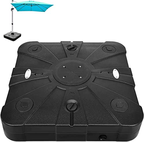 discount Giantex 260lbs Offset Patio Umbrella Base with wholesale Wheels, Water Sand online sale Filled Square Umbrella Base Stand for Cantilever Umbrella, Cantilever Base Weight with Crossbar outlet sale