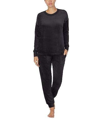 Donna Karan Casual Luxe Sleepwear Top (Black) Women