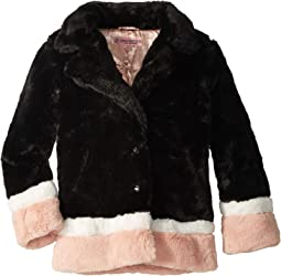 Gigi Faux Fur Color Block Long Coat (Little Kids/Big Kids)