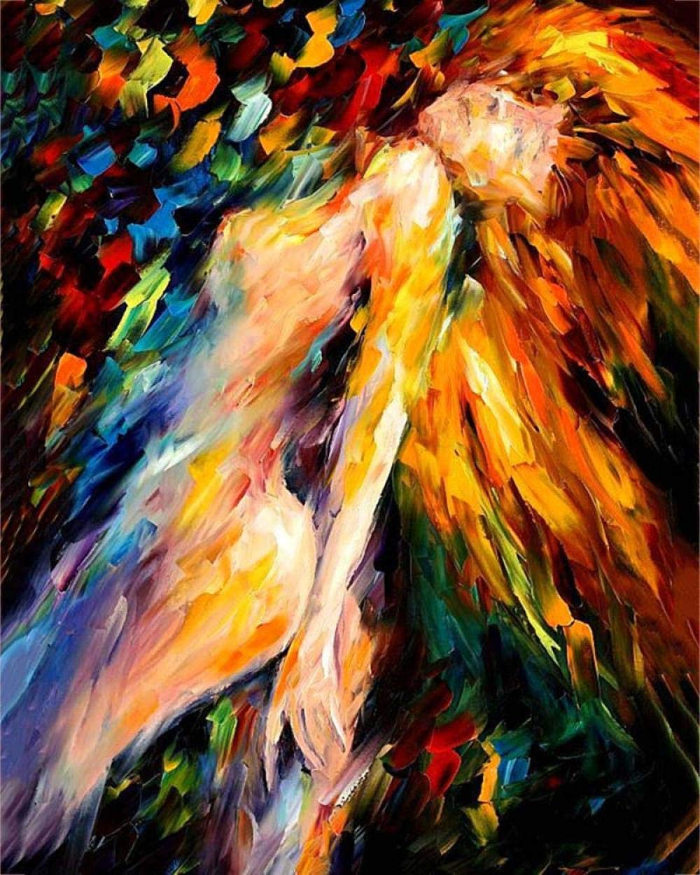 Diy Painting By Numbers For Adults Paint By Number Kit On Canvas For Beginners New Painters Gift Package From Season Nude Sexy Woman Body Art 40x50cm 15 80x 19 70 Inch Amazon Co Uk Kitchen Home