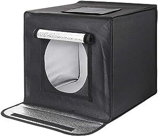 Mnjin Caja de luz fotográfica Profesional portátil, Caja de Estudio fotográfico portátil, Kit de Tienda de Tiro Plegable con Luces LED Regulables de Brillo: Amazon.es: Deportes y aire libre