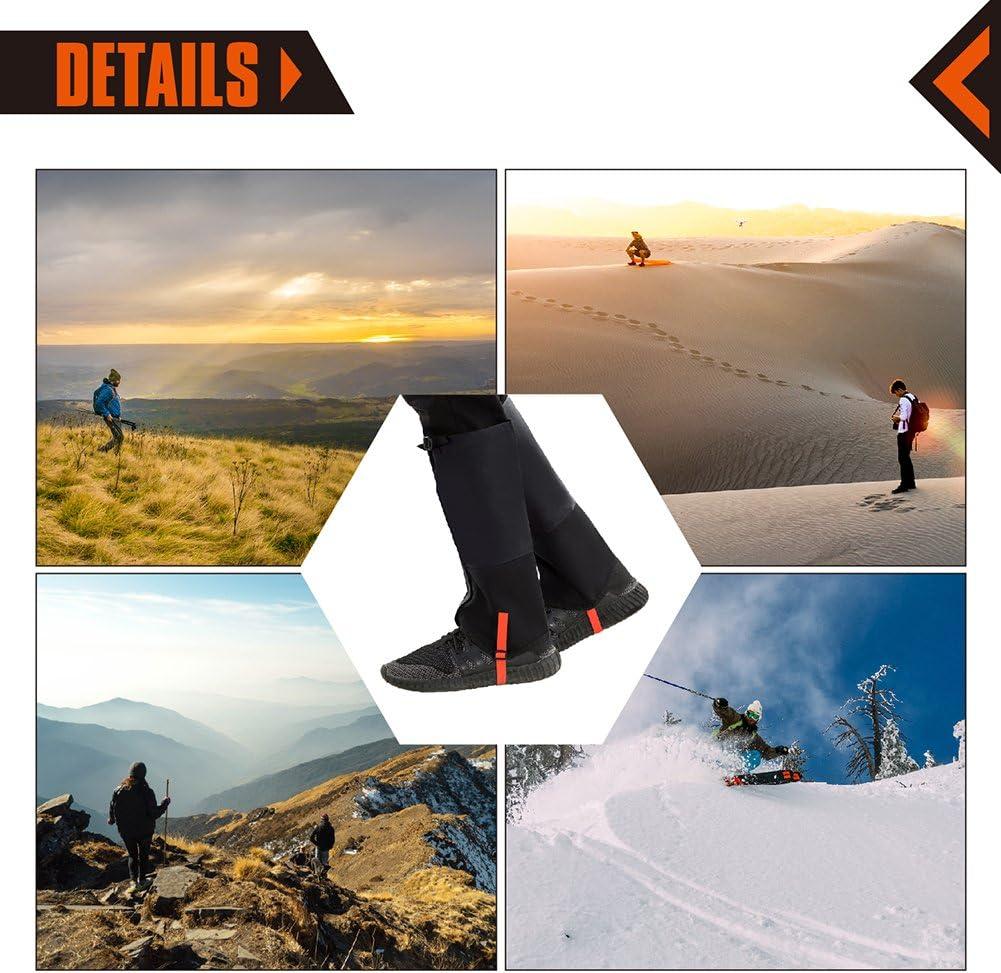 KingCamp Leg Gaiters-Waterproof Snow Boot Gaiters for Hiking, Walking, Hunting, Ice Climbing, Skiing for Men& Women
