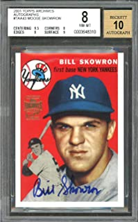 2001 topps archives autographs #taa43 BILL SKOWRON yankees BGS 8 (9.5 8 8 9) Graded Card