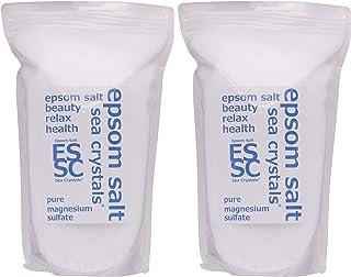 シークリスタルス (Sea Crystals) シークリスタルス 国産 エプソムソルト (硫酸マグネシウム) 入浴剤 浴用化粧品 計量スプーン付 無香料 単品 8㎏(4kgX2)