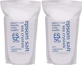 シークリスタルス 国産 エプソムソルト (硫酸マグネシウム) 入浴剤 8㎏ (4kgX2) 浴用化粧品 計量スプーン付 無香料