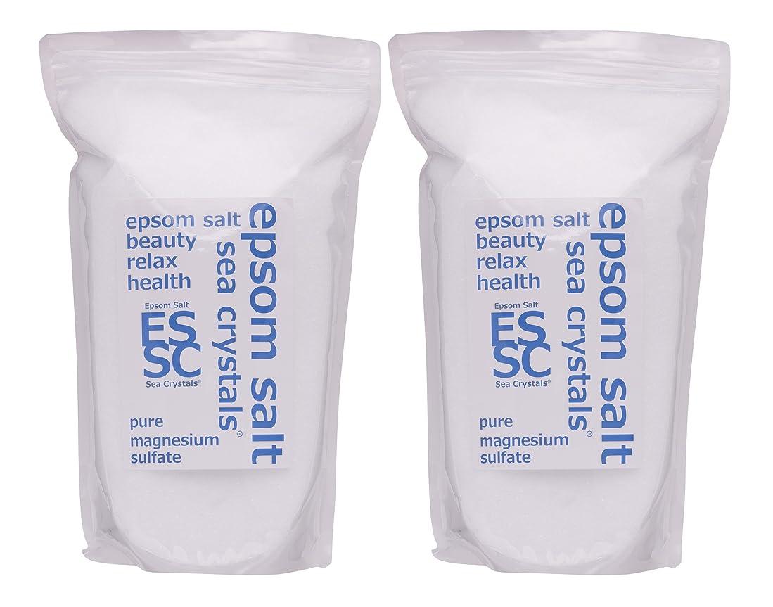 情報姿勢技術的なシークリスタルス 国産 エプソムソルト (硫酸マグネシウム) 入浴剤 4.4㎏ (2.2kgX2) 浴用化粧品 計量スプーン付 無香料