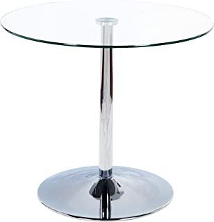 Target Marketing System Pisa Modern Retro Round Dining Table, 35.4