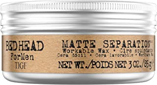 Bed Head B For Men Matte Separation Workable Wax by TIGI for Men - 3 oz Wax