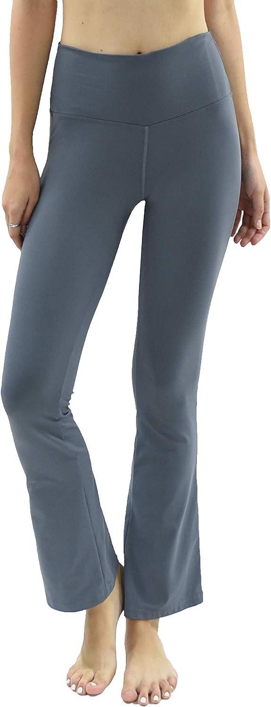 Private Island Women UPF 50+ Bootcut Long Leggings Pants Pocket Swim Beach Swimsuit Rash Guard Bathing Bottom (RMLBC)