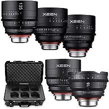 Rokinon's Xeen Cine Lens Bundle Including Xeen 16mm T2.6 Cine Lens, Xeen 35mm, 50mm, 85mm T1.5 & 135mm T2.2 Professional Cine Lenses for Nikon F Mount Cameras by Rokinon