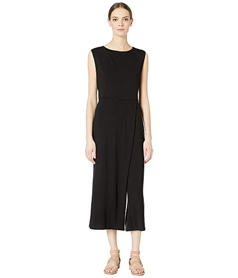 00ca1cb999a Eileen Fisher Bateau Neck Wrap Jumpsuit at Zappos.com