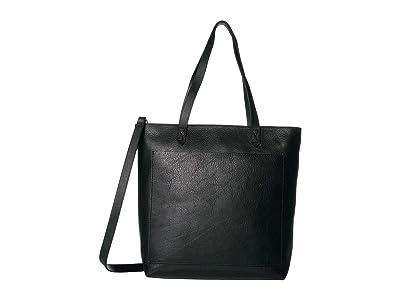 Madewell The Medium Transport Tote w/ Inset Zipper (True Black) Handbags