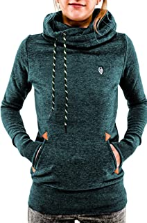Women's Pullover Hoodie Funnel Neck Long Sleeve Hooded Sweatshirt with Pocket